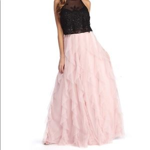 Pink and Black formal gown